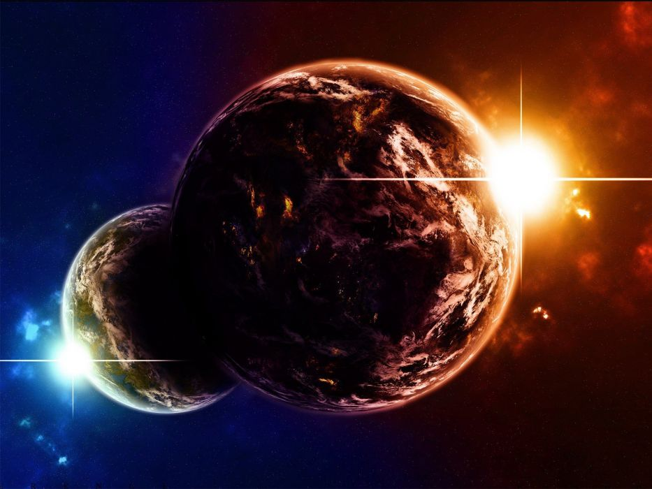 outer space planets fantasy art worlds wallpaper