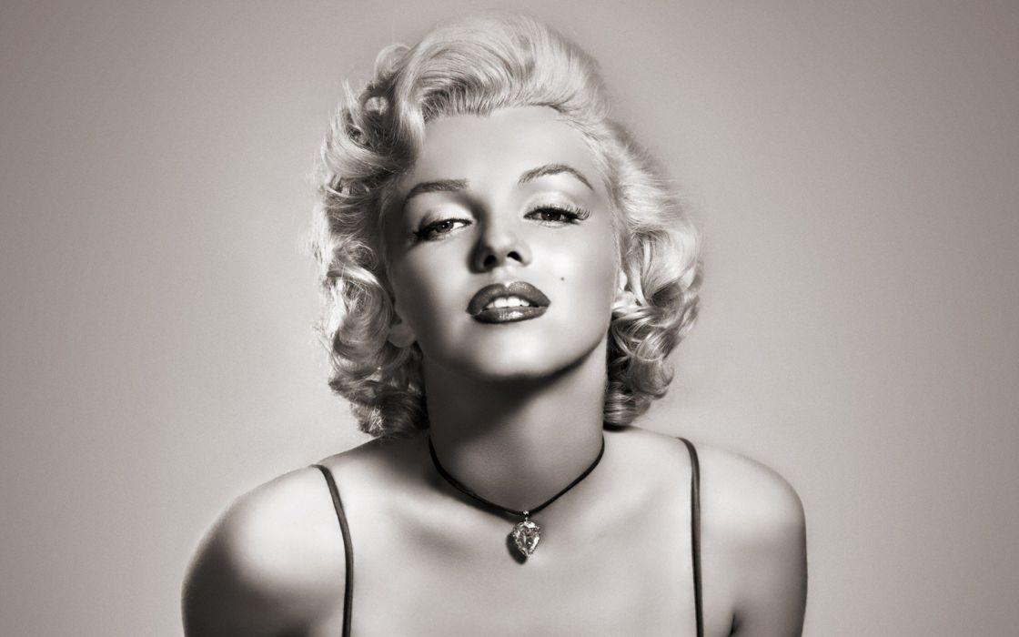 women Marilyn Monroe grayscale wallpaper