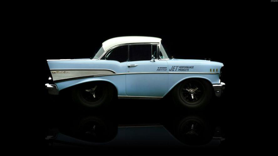 cars DeviantART digital art tuning Chevrolet Bel Air wallpaper