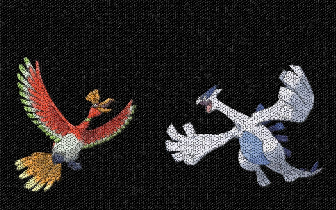 Pokemon mosaic Lugia Ho-oh wallpaper