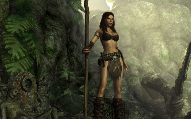 Lara Croft artwork wallpaper