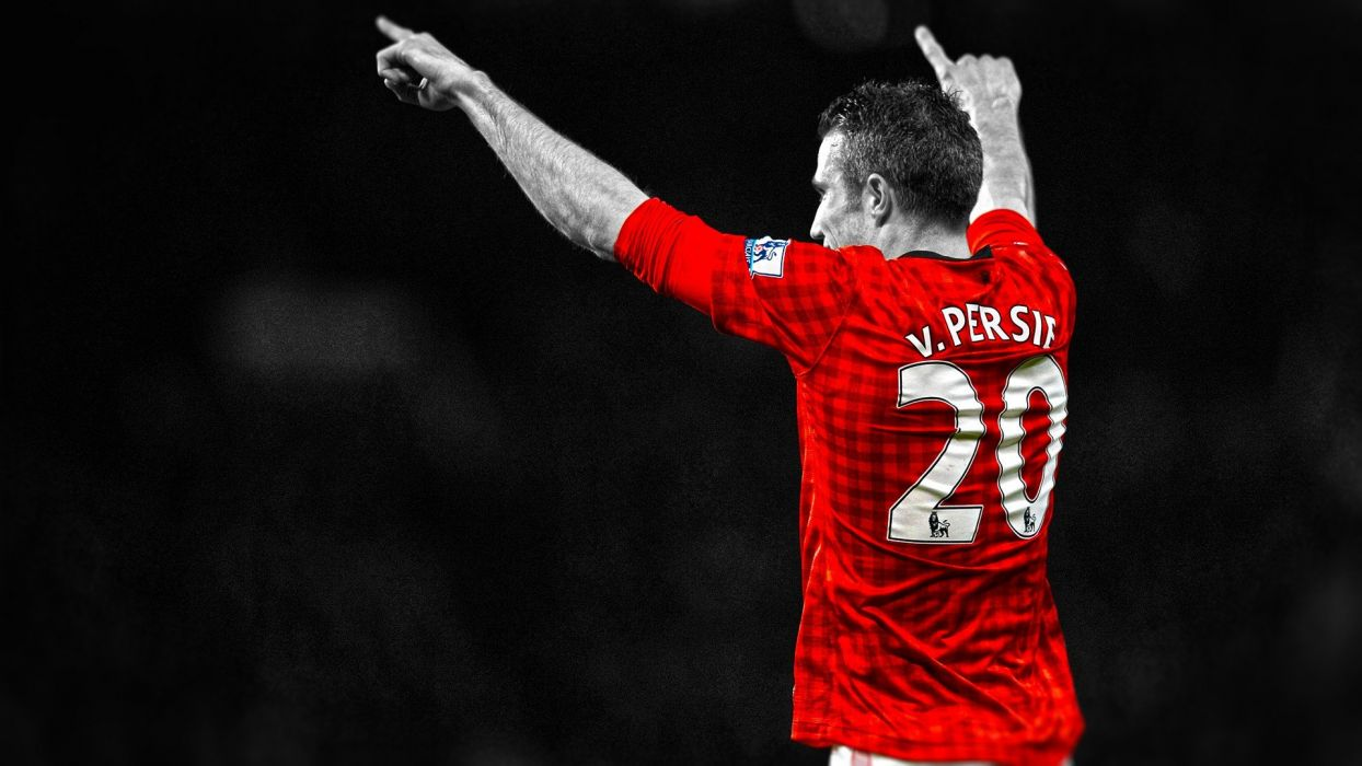 soccer HDR photography Manchester United FC Robin van Persie Manchester United premier league cutout RvP football player wallpaper