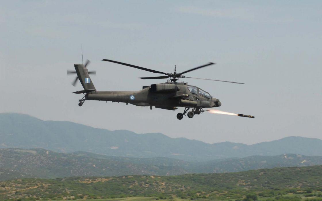 apache military Boeing rockets rocket launcher AH-64 Apache greek army wallpaper