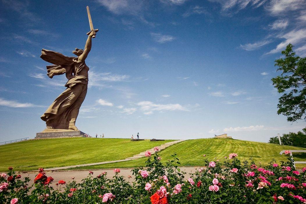 mother Russia victory monument Stalingrad Volgograd soviet urss war wwII WW2 wallpaper