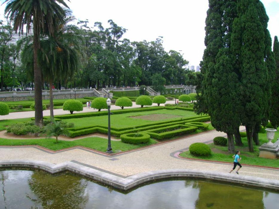 sao paulo city Megapole south america Brazil museum Ipiranga garden wallpaper