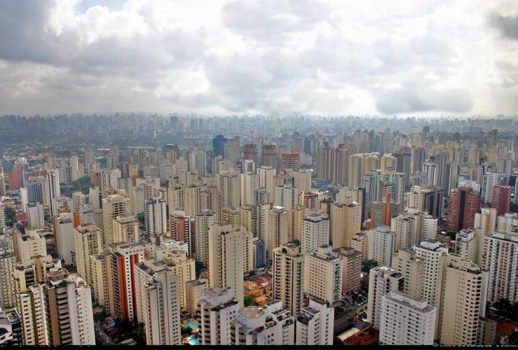 sao paulo city Megapole south america Brazil buildings wallpaper