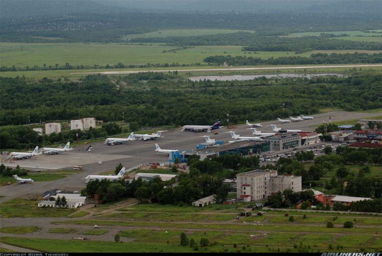 Airport Knevichi Vladivostok Russia city 4000x2678 wallpaper
