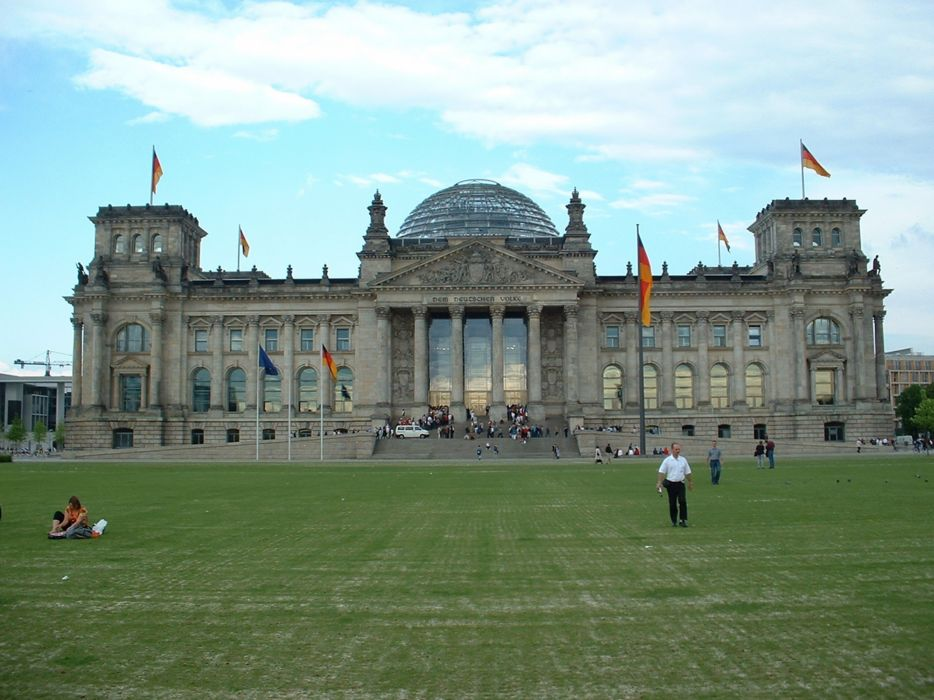 Front Reichstag building Berlin Germany city 4000x3000 wallpaper