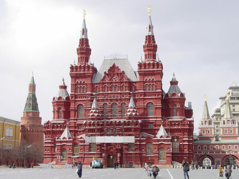 Kremlin square red building Moscow Russia city wallpaper