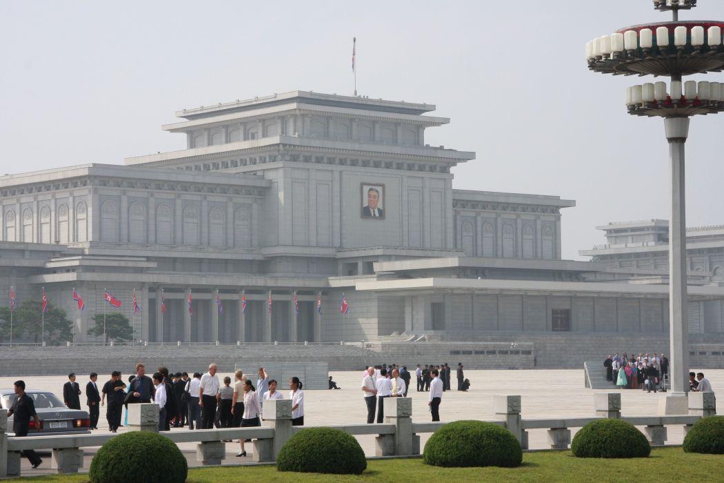 Kumsusan Memorial Palace Pyongyang North Korea building wallpaper