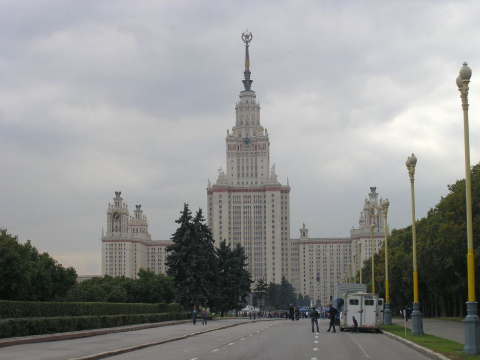 Russia Moscow Moscow State University city 4000x3000 wallpaper