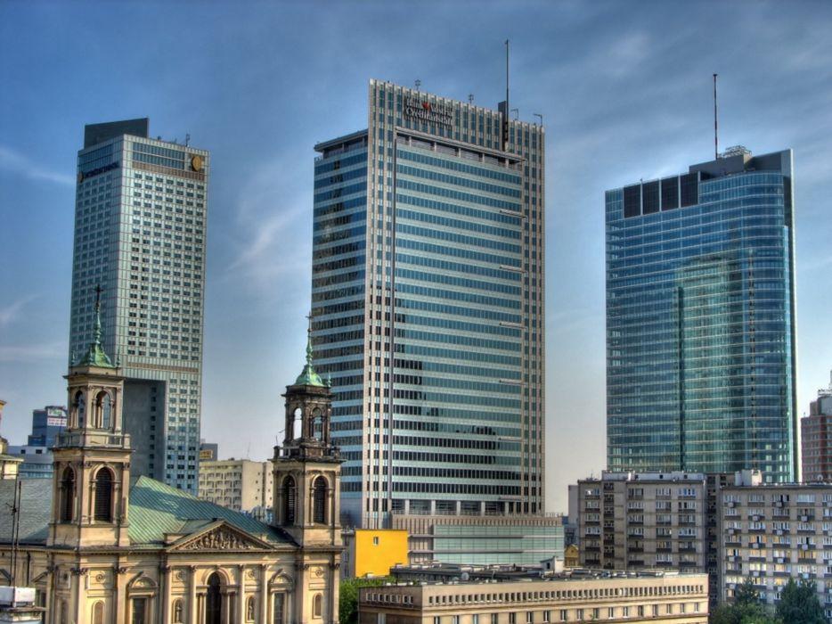 Warsaw building Poland europe 4000x3000 wallpaper