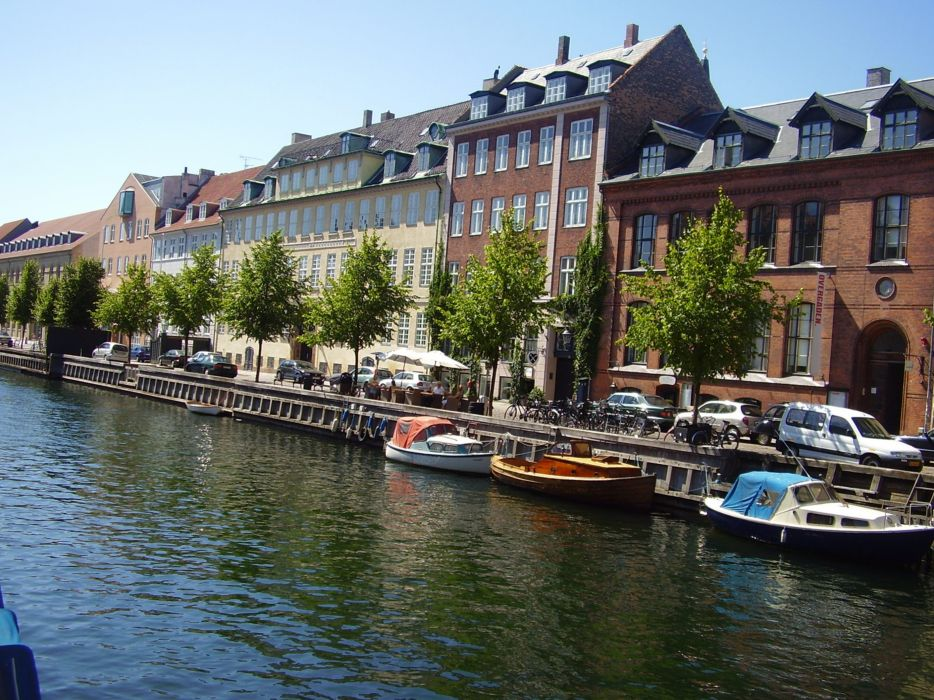 city cityscape copenhagen denmark europe river wallpaper