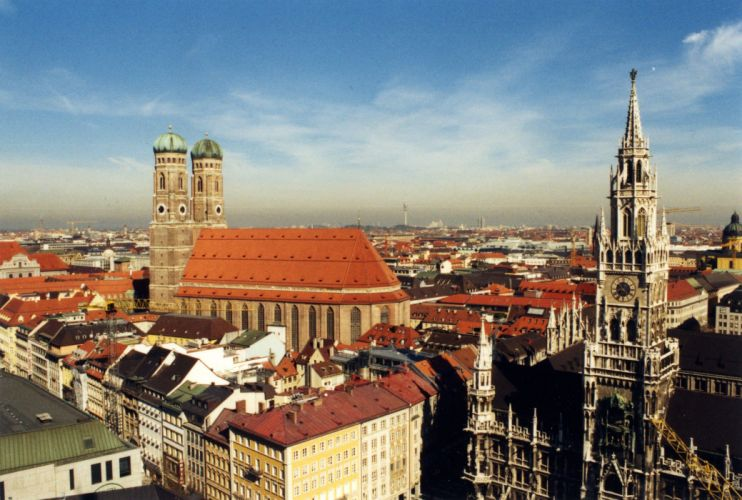 Munich skyline germany city europe wallpaper