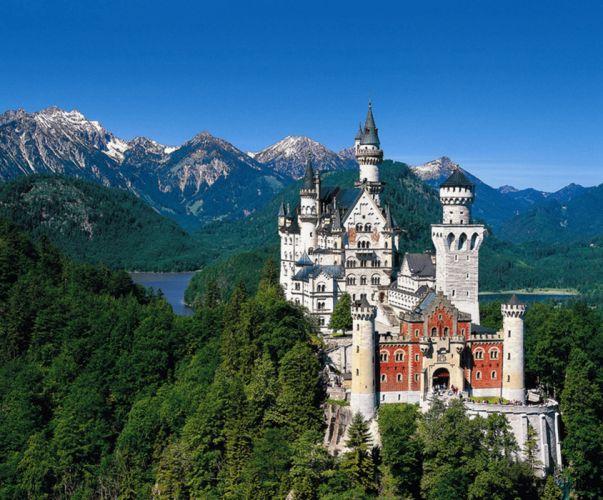 Neuschwanstein alp germany europe Castle wallpaper