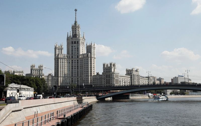 Russia Moscow Moscow State University city river wallpaper