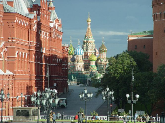 moscow russia city europe red wallpaper