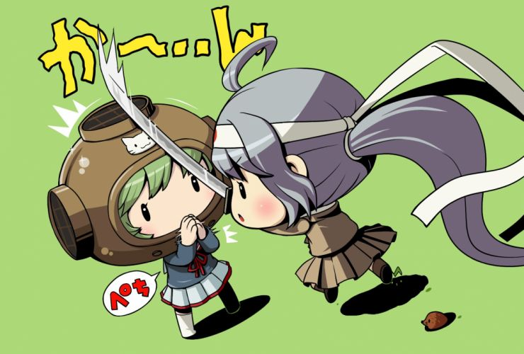 animal chibi equipments fairy (kancolle) kantai collection sword tagme (artist) weapon wallpaper