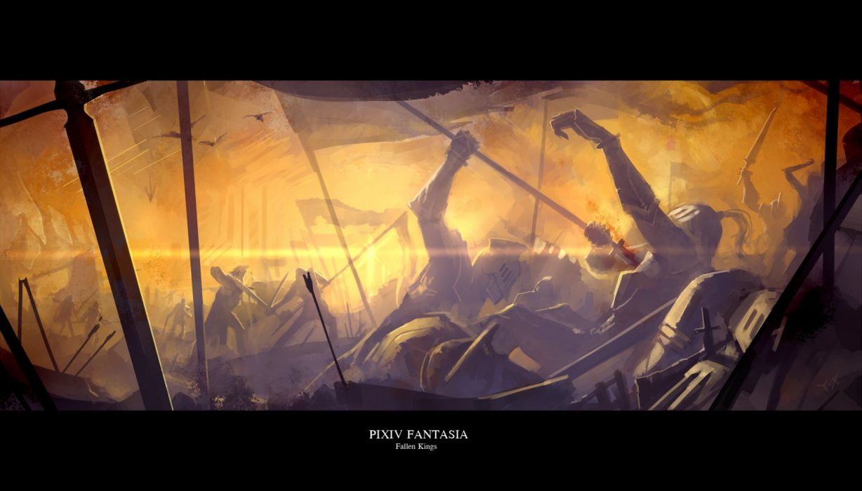 armor blood pixiv fantasia sword weapon yuushouku wallpaper