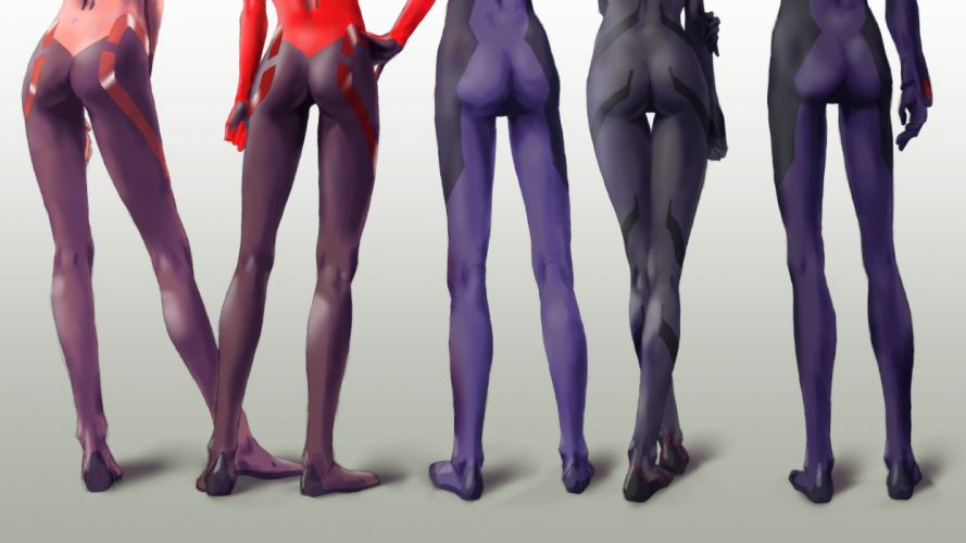 ass ayanami rei bodysuit ikari shinji makinami mari illustrious nagisa kaworu neon genesis evangelion skintight soryu asuka langley wallpaper