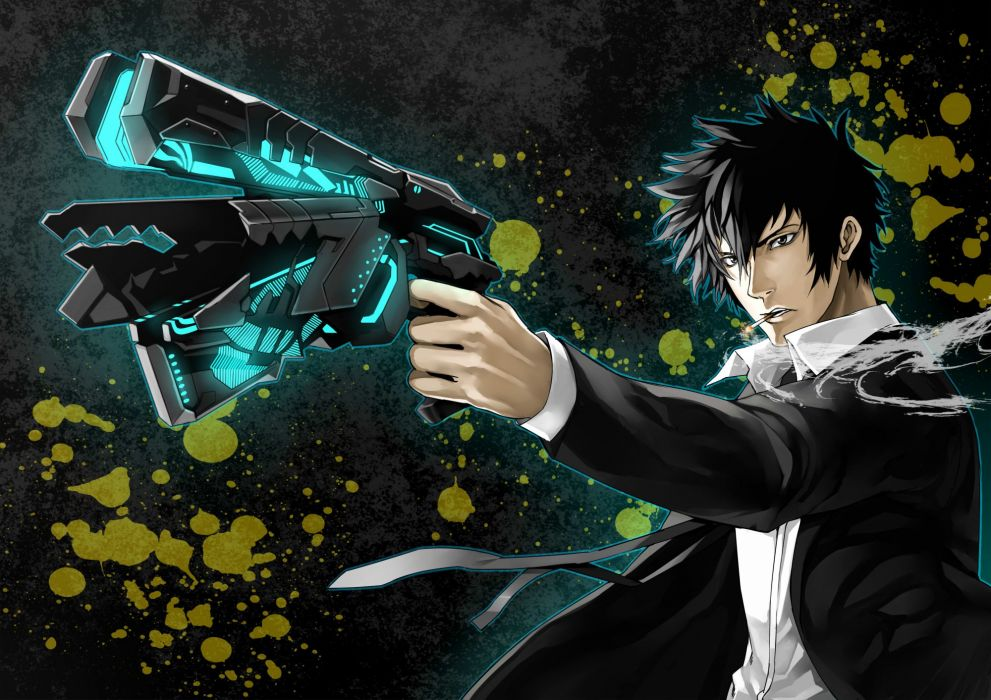 er-mint kougami shinya psycho-pass wallpaper