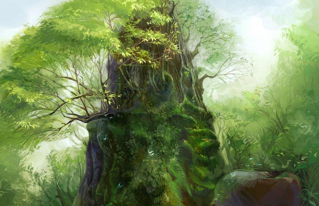 forest leaves nobody oceanleaves original scenic tree wallpaper
