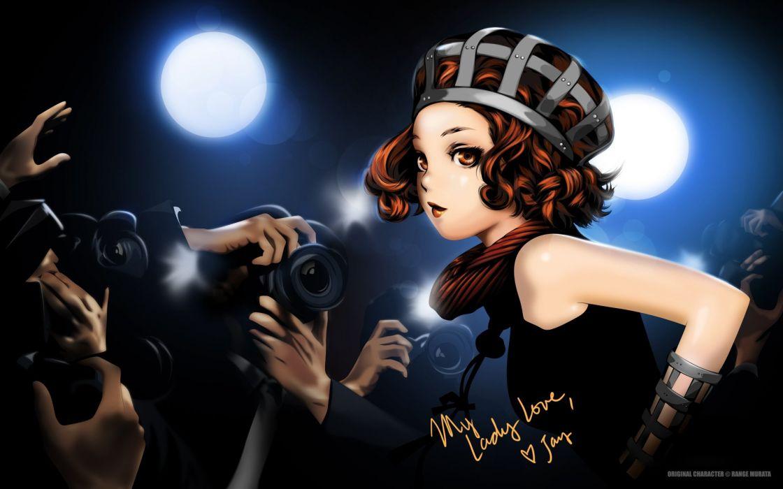 Range Murata Redhead girl Camera Anime Girls wallpaper