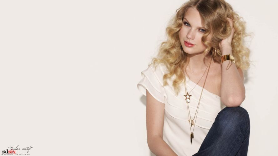 blondes women Taylor Swift models white background wallpaper