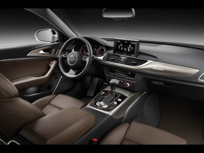 vehicles dashboards Audi A6 Quattro German cars wallpaper