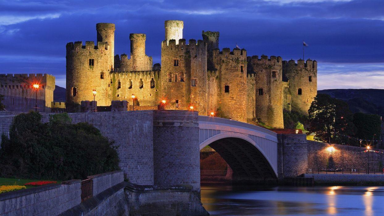 Wales castle wallpaper