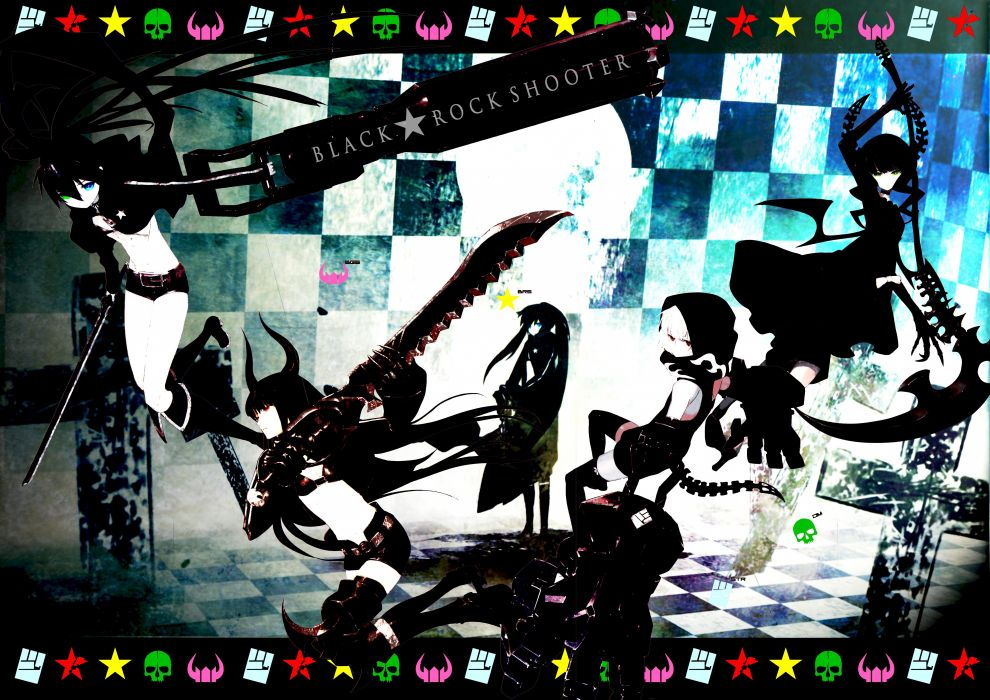 Black Rock Shooter anime anime girls wallpaper