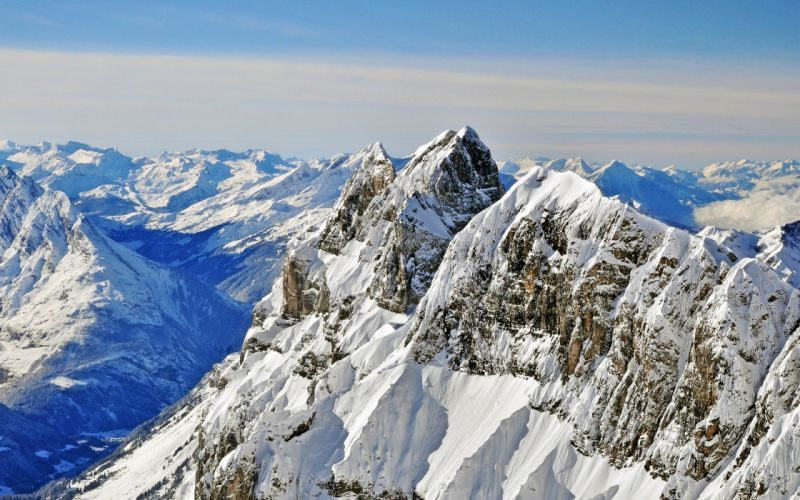 mountains winter peaks wallpaper