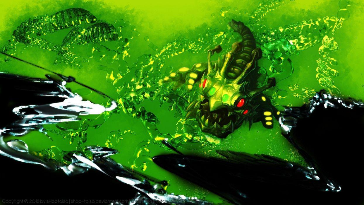 Abstract Video Games League Of Legends Caterpillar Kog Maw