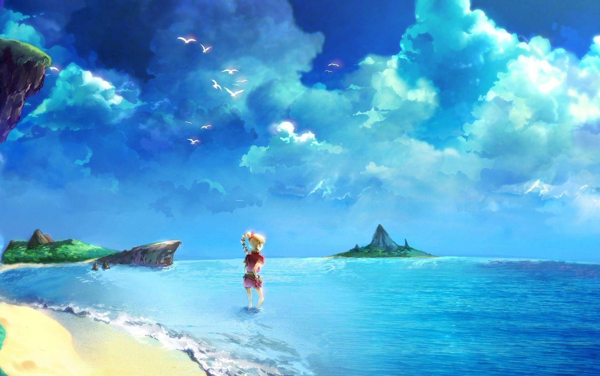 Video games chrono cross square enix anime girls beaches - Beach anime girl ...