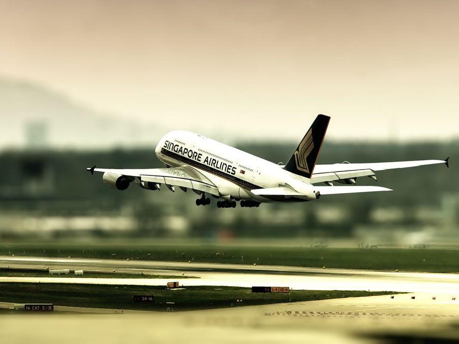 aircraft tilt-shift wallpaper