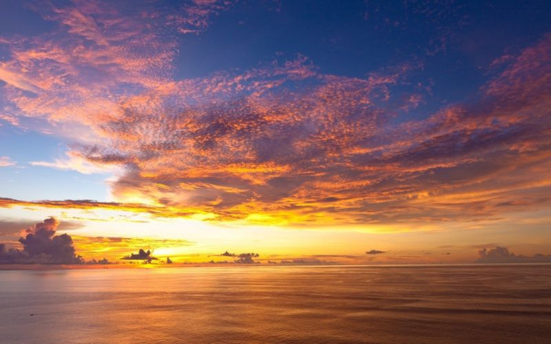 clouds landscapes nature yellow ripples lungs evening Shades sky sea wallpaper