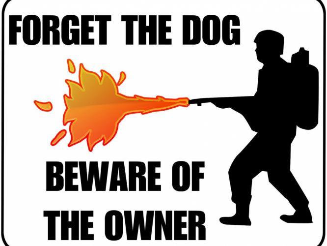 funny warning wallpaper