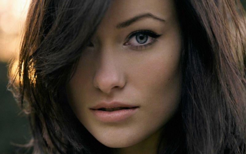 brunettes women models Olivia Wilde faces wallpaper