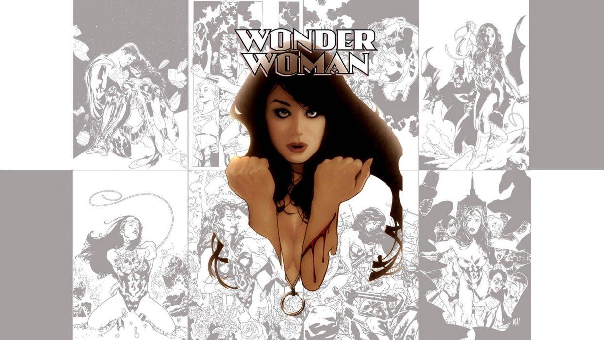 women DC Comics superheroes illustrations amazon heroine Wonder Woman wallpaper