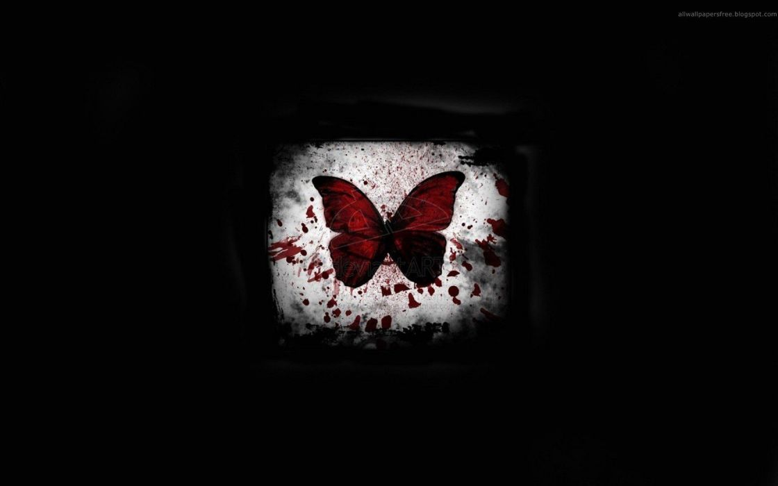 horror emo DeviantART Gothic butterflies wallpaper