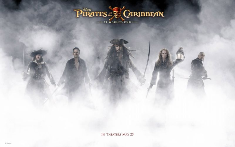 Keira Knightley Pirates of the Caribbean Johnny Depp Orlando Bloom Geoffrey Rush Captain Jack Sparrow Captain Hector Barbossa Elizabeth Swann wallpaper