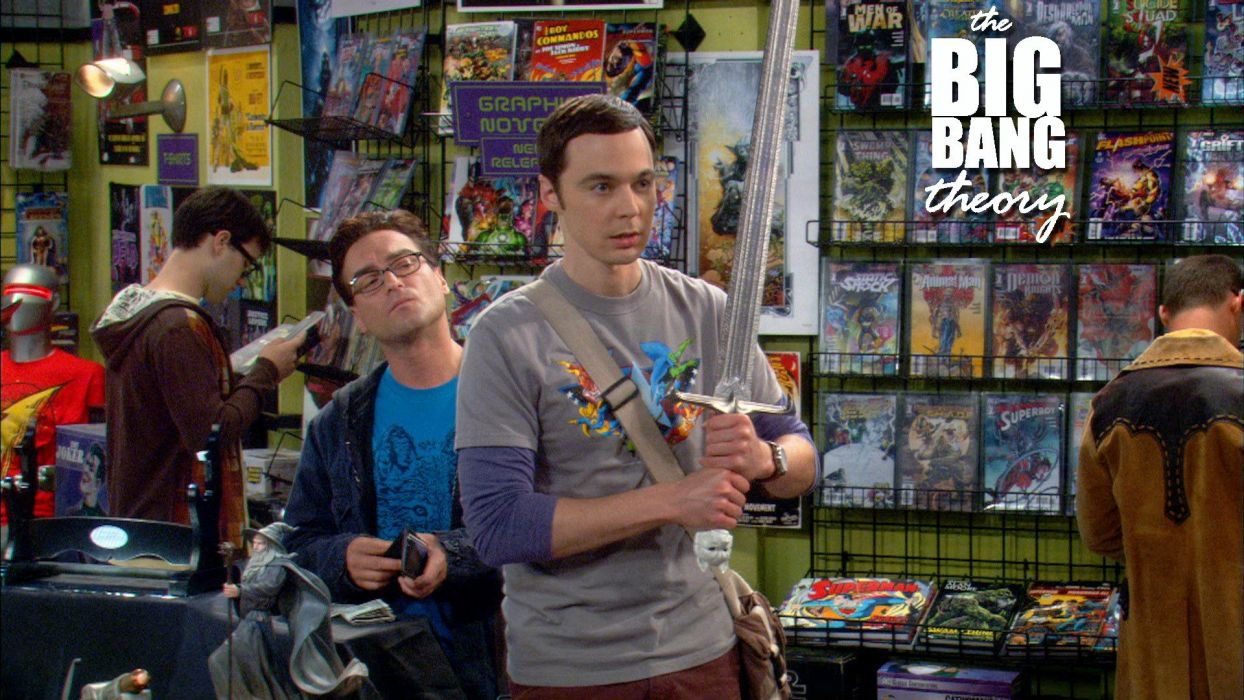 The Big Bang Theory (TV) Game of Thrones Jim Parsons swords Sheldon Cooper Leonard Hofstadter comic books Johnny Galecki wallpaper
