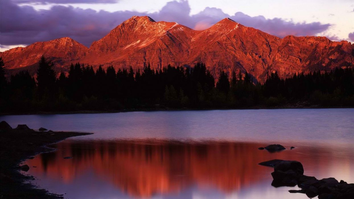 sunset forests national Colorado glow range wallpaper