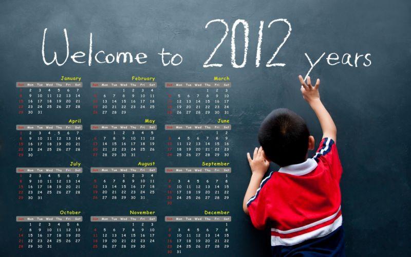 blackboards calendar Happy New Year wallpaper