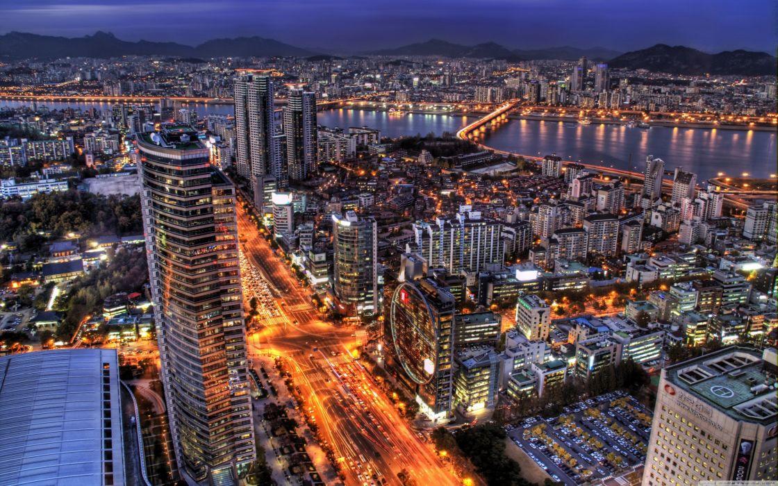 Night Seoul South Korea Wallpaper 3840x2400 341372