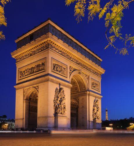 Arc triumph paris france europe city monument wallpaper