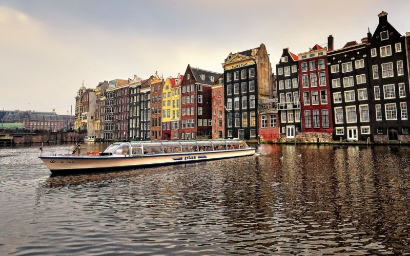 amsterdam nederlands city europe river wallpaper