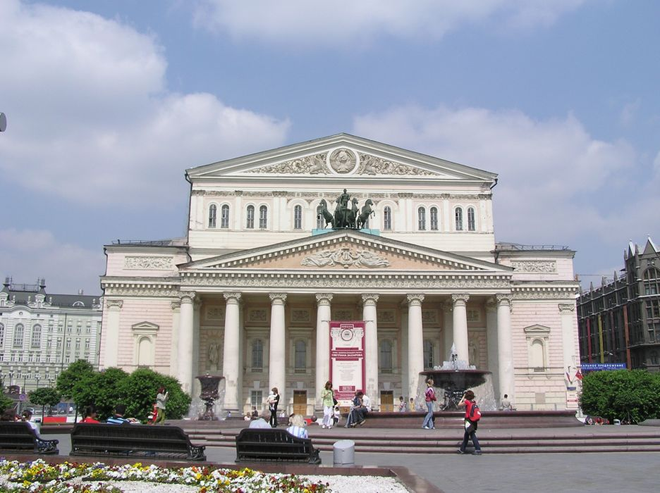 Bolshoi theatre moscow russia europe city wallpaper