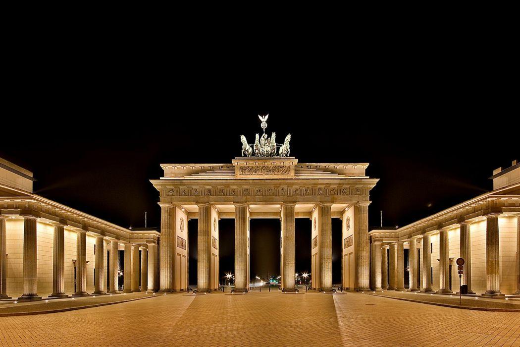 brandenburg gate berlin germany euope city monument night wallpaper