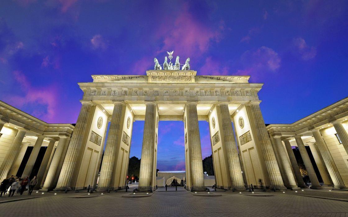 brandenburg gate berlin germany euope city monument sky wallpaper
